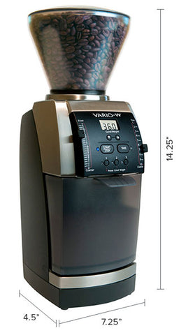 Baratza Vario-W Coffee Grinder dimensions by Filter - Product Image