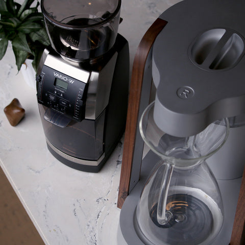 Baratza Vario-W Coffee Grinder with Ratio Eight by Filter - Lifestyle Image
