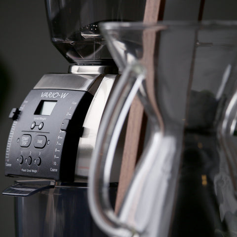 Baratza Vario-W Coffee Grinder by Filter - Lifestyle Image