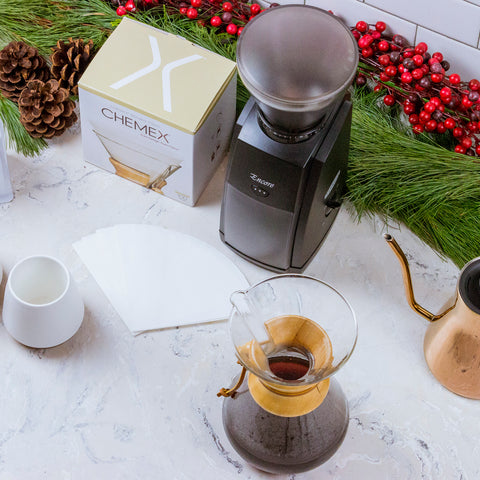 Baratza Encore Grinder with Chemex from Filter - Lifestyle Image