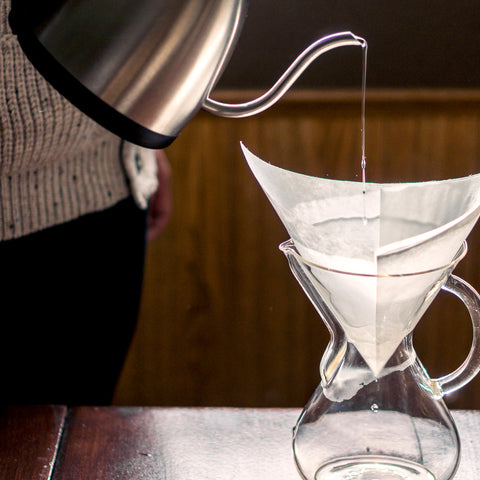 Chemex Pre-Folded Filters Square from Filter - Lifestyle Image