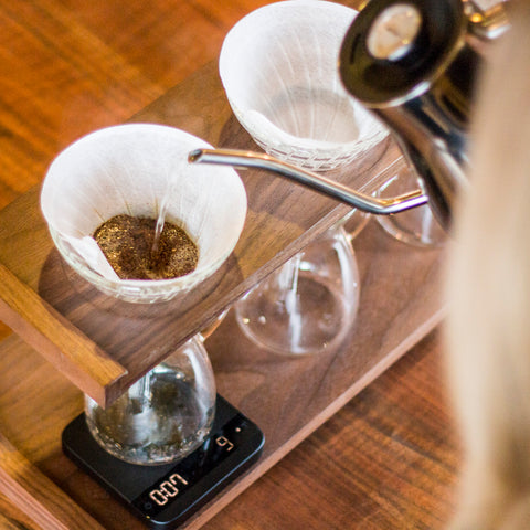 Acaia Lunar Scale from Filter - Lifestyle Image