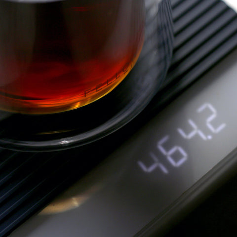 Acaia Pearl Scale Black screen from Filter - Lifestyle Image