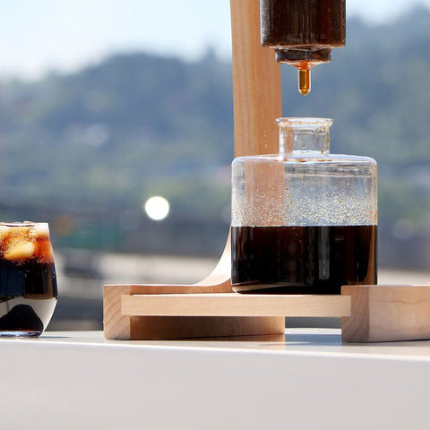Filter Cold Brew Decanter Bottom Beaker from Filter - Lifestyle Image