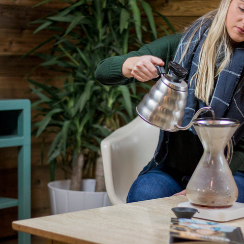 Hario V60 Kettle Thermometer from Filter - Lifestyle Image