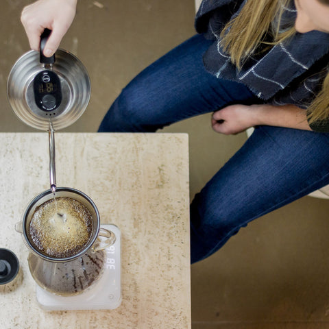 Acaia Pearl Scale White pour over from Filter - Lifestyle Image
