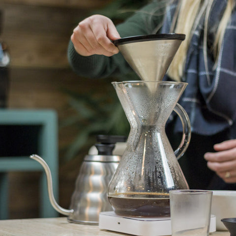 Able Brewing KONE Coffee Filter from Filter - Lifestyle Image