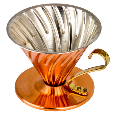 Hario V60 Copper Coffee Dripper from Filter - Product Image