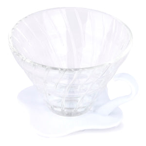 Hario V60 Glass Coffee Dripper from Filter - Product Image