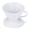 Hario V60 White Ceramic Coffee Dripper from Filter - Product Image