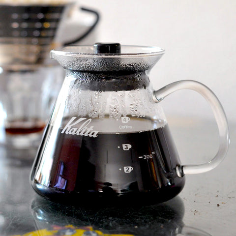 Kalita Glass Server from Filter - Lifestyle Image