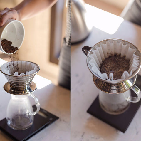Kalita Wave Stainless Steel Dripper from Filter - Lifestyle Image