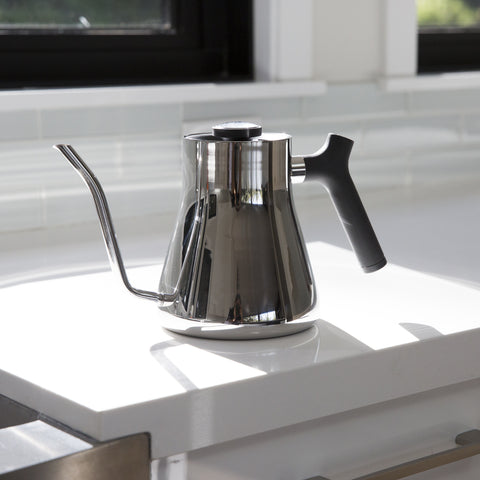 Fellow Stagg Pour Over Kettle stainless counter from Filter - Lifestyle Image