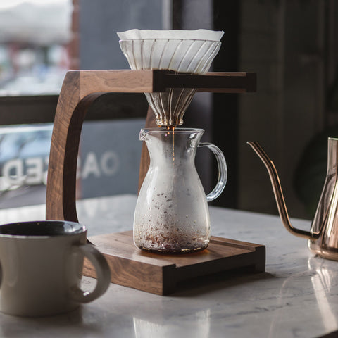 Pourover Stand with Stagg kettle from Filter - Lifestyle Image