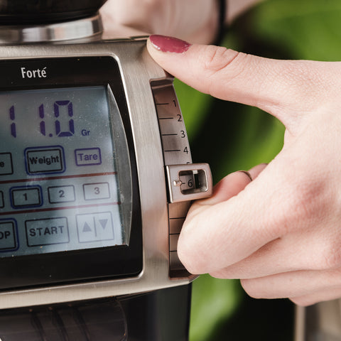 Baratza Forté-AP Grinder screen from Filter - Lifestyle Image