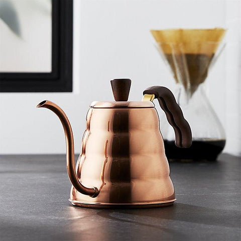 Hario V60 Copper Buono Kettle from Filter - Lifestyle Image