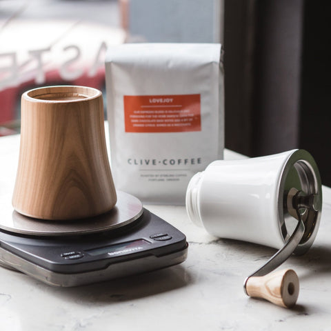 Hario Ceramic Hand Grinder from Filter - Lifestyle Image2