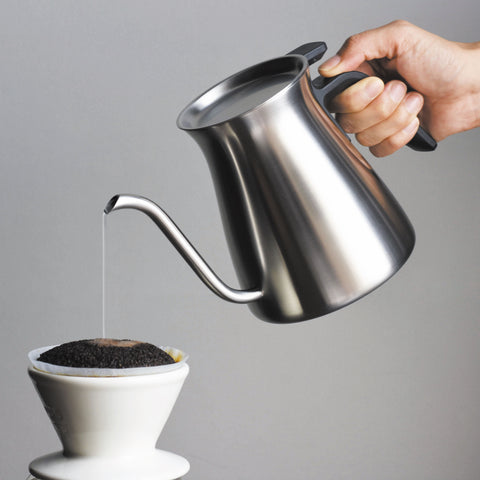 Kinto Pour Over Kettle mirror pour from Filter - Lifestyle Image