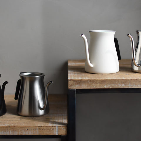 Kinto Pour Over Kettle line up from Filter - Lifestyle Image