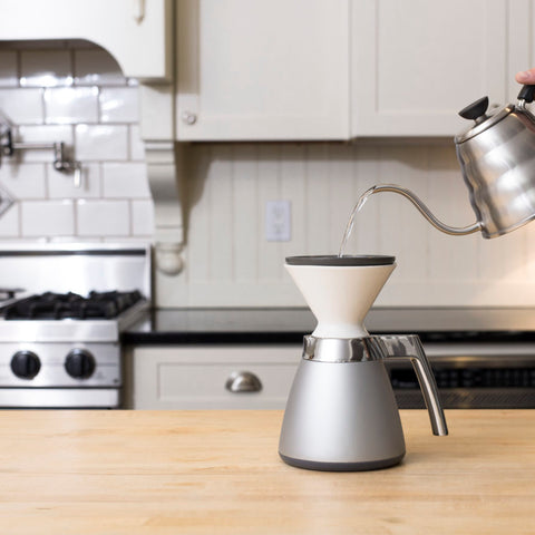 Ratio Porcelain Dripper with carafe from Filter - Lifestyle Image