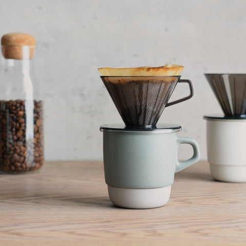Kinto SCS Stacking Mug dripper from Filter - Lifestyle Image