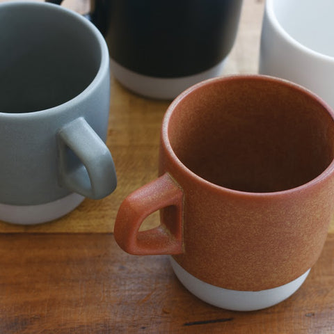 Kinto SCS Stacking Mug top from Filter - Lifestyle Image