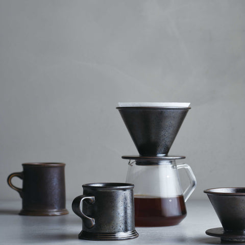 Kinto SCS-S02 Coffee Server with dripper from Filter - Lifestyle Image