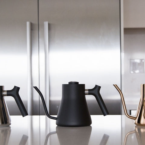 Fellow Stagg Pour Over Kettle all 3 counter from Filter - Lifestyle Image