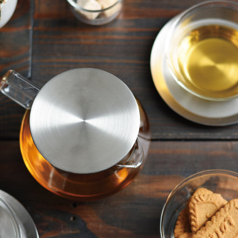 Kinto Carat Teapot top view from Filter - Lifestyle Image