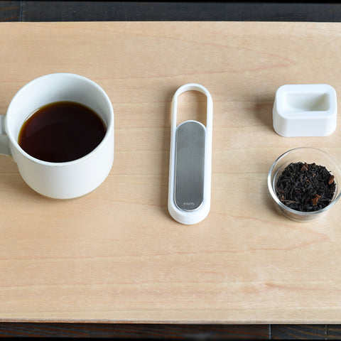 Kinto Loop Tea Strainer from Filter - Lifestyle Image