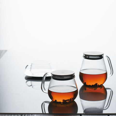 Kinto Unitea One Touch Teapot from Filter - Lifestyle Image