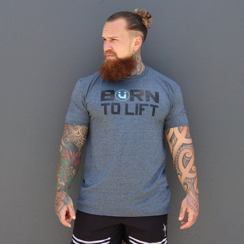 Born to Lift - Grey/Blue
