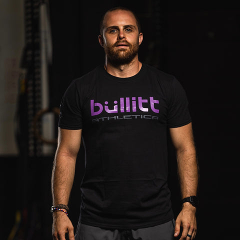 Bullitt Athletica Tee - Black/Purple
