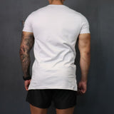 Dropped Hem Tee - Eggshell white