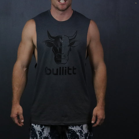 Bull Muscle Tee - Dark Grey