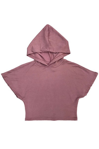 Kids Dolman Short Sleeve Crop Hood