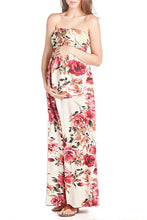 Flower Printed Maxi Tube Dress