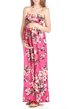 Flower Printed Maxi Tube Dress - BEACHCOCO