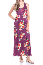 Comfortable Flower Printed Jersey Maxi Dress