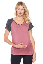 Beachcoco Women's Maternity Tops Side Ruched Jersey T-Shirt