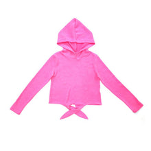 Kids Tied Crop Hood Top