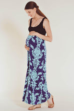 Sleeveless Maxi Empire Waist Printed Tank Dress