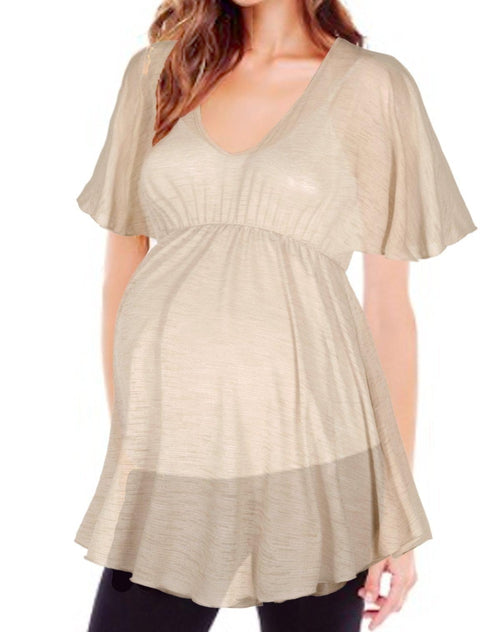 Babydoll Semi Sheer Tunic Top - BEACHCOCO