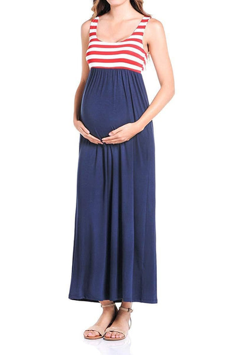 Flag Maxi Tank Dress - BEACHCOCO