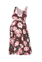 Knee Length Flower Printed Tank Dress - BEACHCOCO