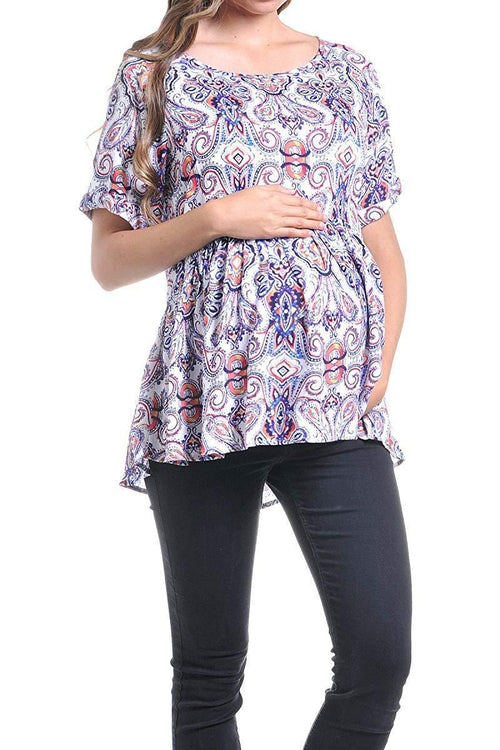 Loose Fit Pleated Blouse Top - BEACHCOCO