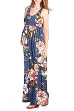 Maxi Flower Printed Tank Dress - BEACHCOCO