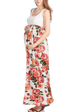 Sleeveless Maxi Empire Waist Flower Printed Tank Dress - BEACHCOCO