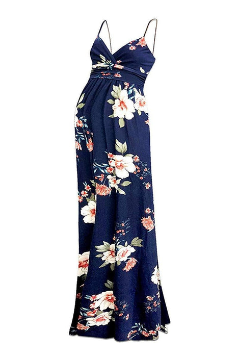 Sweetheart Flower Printed Party Maxi Dress - BEACHCOCO