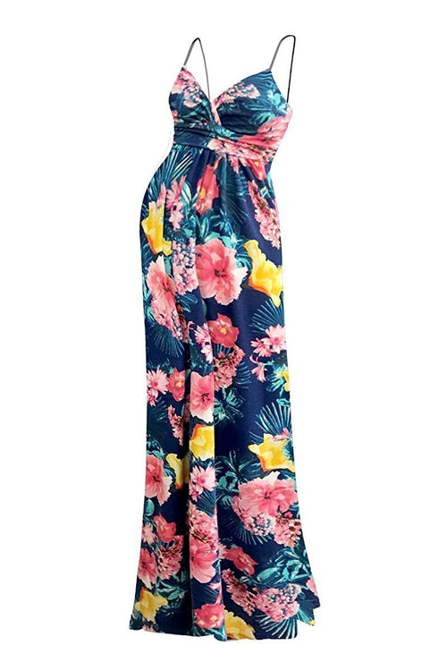 Sweetheart Tropical Printed Party Maxi Dress - BEACHCOCO